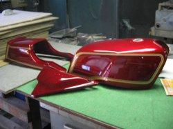 画像1: Z1000MKII赤図面つき塗料セット