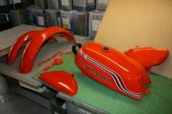 画像1: 500SS H1B キャンディーオレンジ図面つき塗料セット