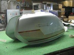 画像1: ホークII 角タンク(サイドカバーロゴペイント込み) 外装一式ペイント料金