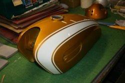 画像1: XS-1 Bキャンディーゴールド図面つきウレタン塗料セット