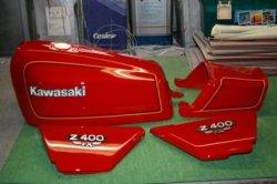 画像1: Z400FX E2ファイアークラッカーレッド図面つきウレタン塗料セット